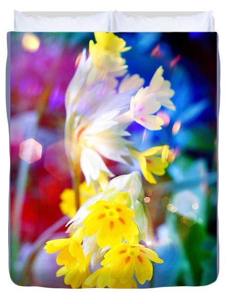 Dream Of Yellow Flowers Duvet Cover