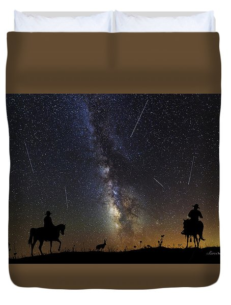 Dream Ride At Magic Time Duvet Cover