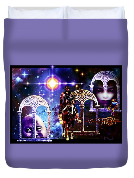 Dream  Rider Duvet Cover