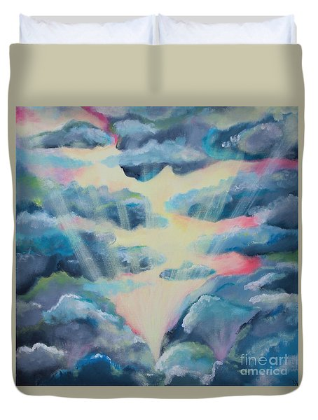 Duvet Cover featuring the painting Dream by Stacey Zimmerman