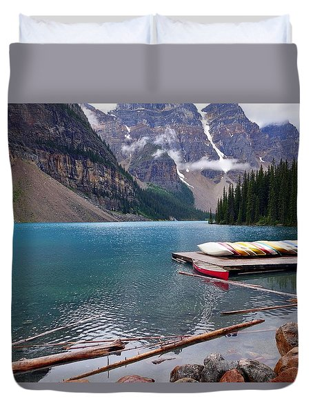 Moraine Lake, Ab  Duvet Cover