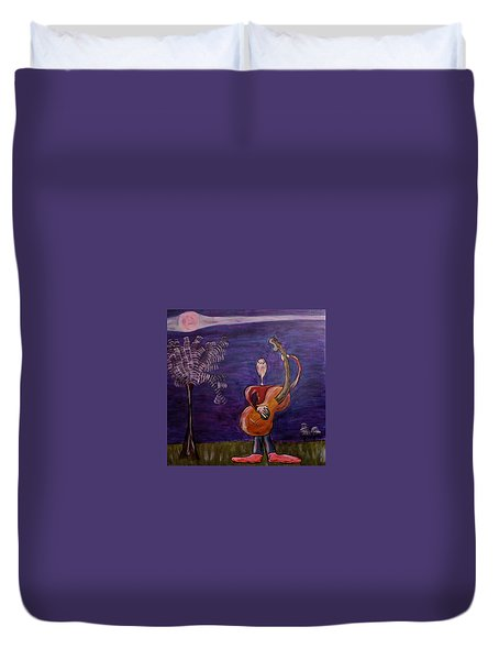 Duvet Cover featuring the painting Dreamers 13-001 by Mario Perron