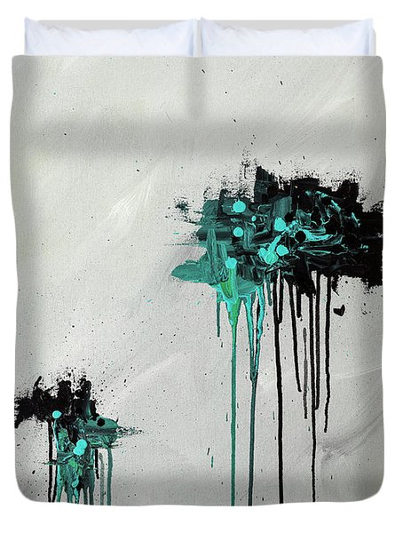 Duvet Cover featuring the painting Dreamers by Carmen Guedez