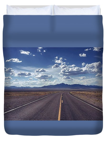 Dreaming About The Extraterrestrial Highway Duvet Cover