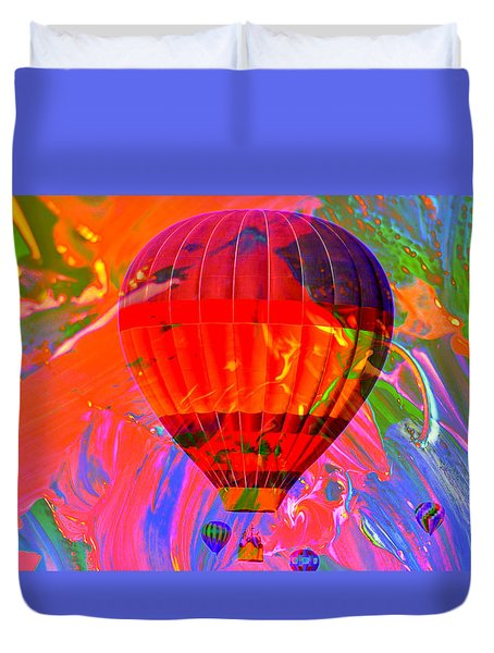 Duvet Cover featuring the photograph Dreaming Across The Sky by Jeff Swan