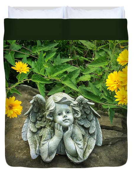 Dreaming Angel Duvet Cover