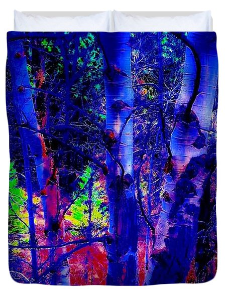 Dreaming Aspens Duvet Cover