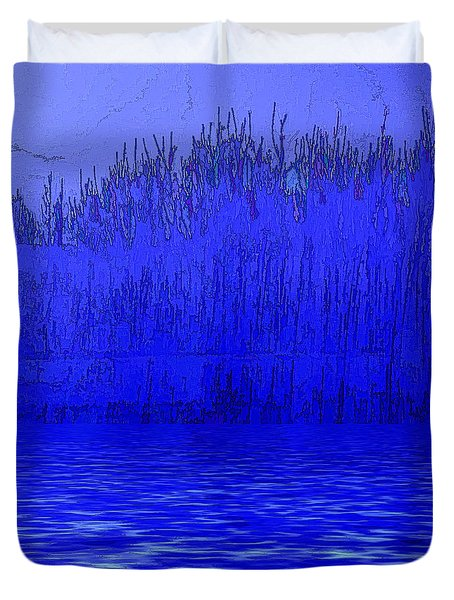Dreaming At Twilight Duvet Cover by Nancy Marie Ricketts