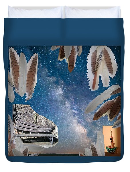 Dreaming Bench Duvet Cover