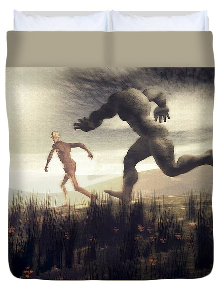 Dreaming Of A Nameless Fear Duvet Cover
