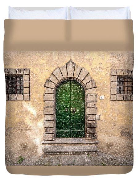 Dreaming Of Cortona Duvet Cover