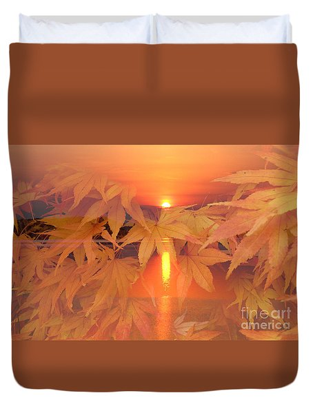 Dreaming Of Fall Duvet Cover by Geraldine DeBoer