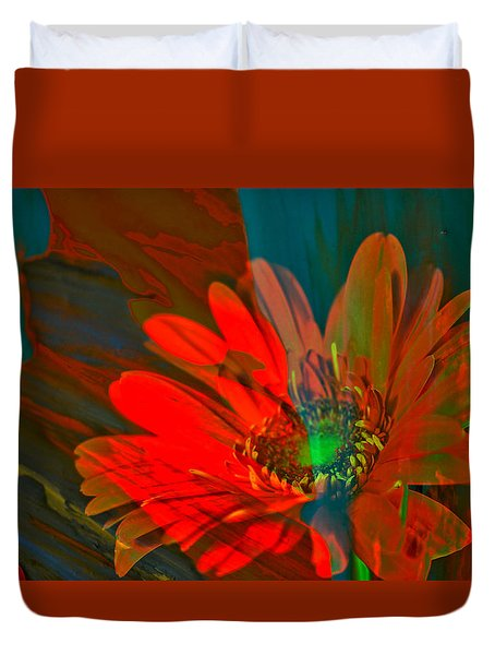 Duvet Cover featuring the photograph Dreaming Of Flowers by Jeff Swan