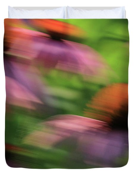 Dreaming Of Flowers Duvet Cover by Karol Livote