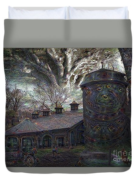 Duvet Cover featuring the digital art Dreaming Silent Screaming by Rhonda Strickland