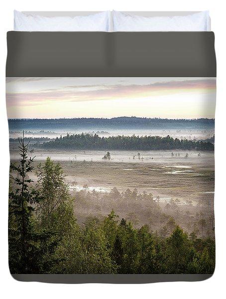 Dreamlike Landscape Duvet Cover by Teemu Tretjakov