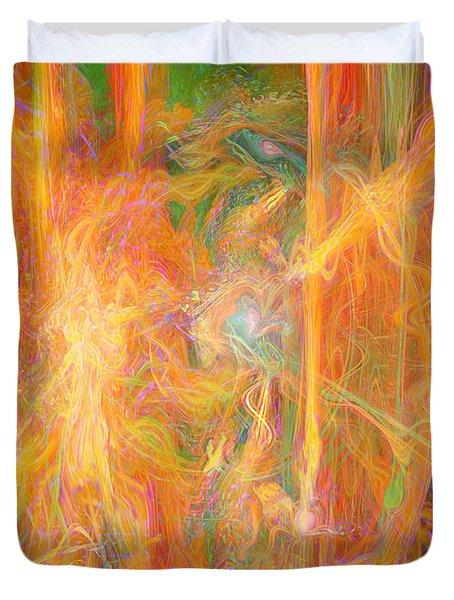 Dreams In Color Duvet Cover by Linda Sannuti