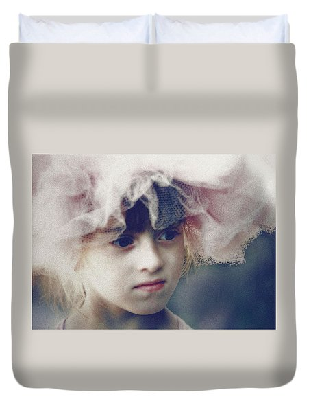 Duvet Cover featuring the photograph Dreams In Tulle 2 by Marna Edwards Flavell