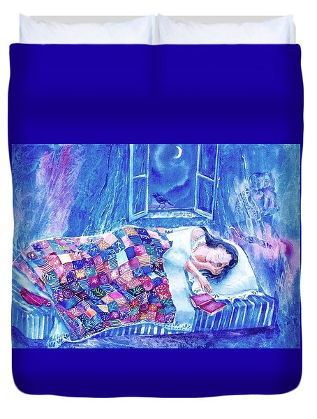 Dreams Of Love  Duvet Cover by Trudi Doyle