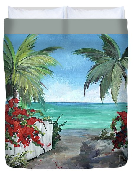Dreams Of St. John Duvet Cover