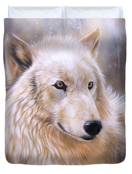 Dreamscape - Wolf II Duvet Cover by Sandi Baker