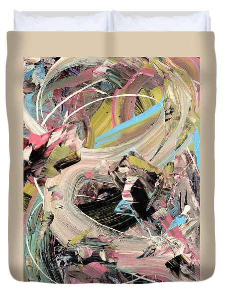 Dreamscape Abstract Duvet Cover by Erika Pochybova