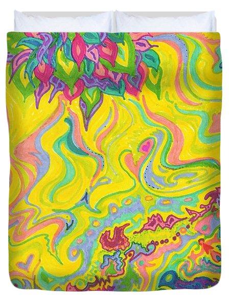 Dreamscaped Swamp-garden 1 Duvet Cover