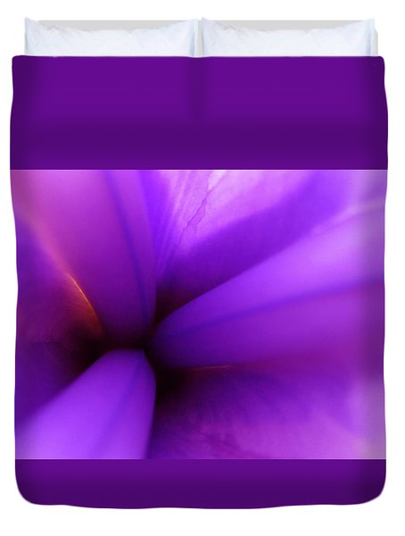Dreamstate In Mauve Duvet Cover