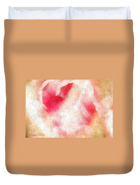 Dreamy Rose Abstract Duvet Cover