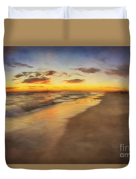 Dreamy Colorful Sunset Duvet Cover
