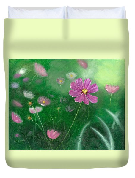 Cosmos Flowers Duvet Cover