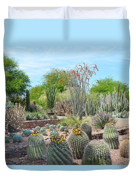 Dreamy Desert Cactus Duvet Cover by Aimee L Maher Photography and Art Visit ALMGallerydotcom