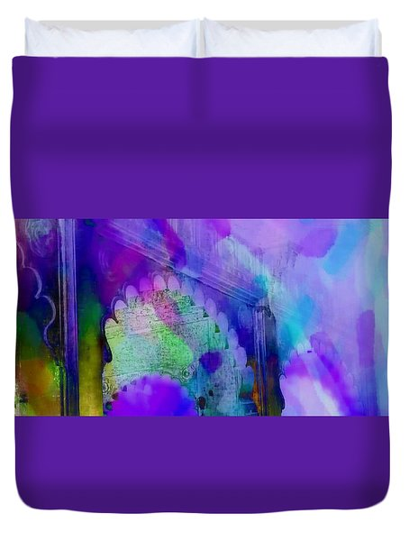 Dreamy Exotic Travel Blue Purple Arches Udaipur Rajasthan India 1d Duvet Cover