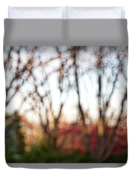 Duvet Cover featuring the photograph Dreamy Fall Colors by Susan Stone
