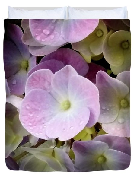 Duvet Cover featuring the photograph Dreamy Hydrangea by Mimulux patricia no No
