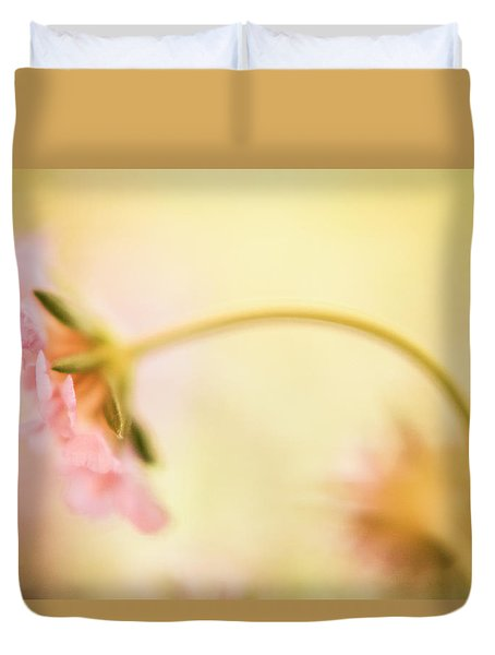 Dreamy Pink Flower Duvet Cover by Bonnie Bruno