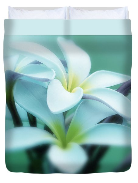 Dreamy Plumeria Art Print Duvet Cover