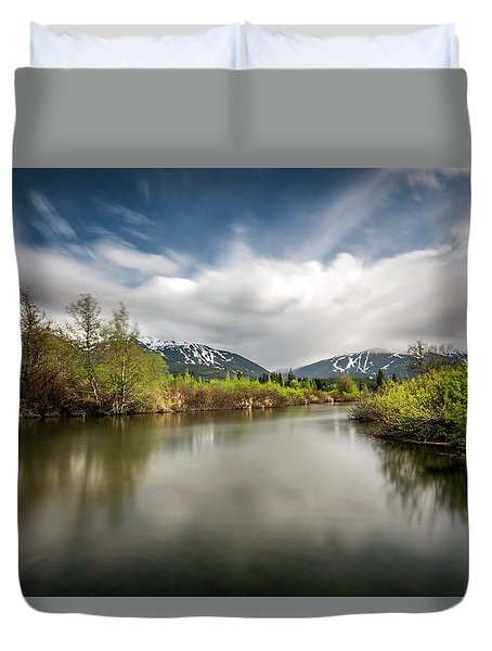 Dreamy River Of Golden Dreams Duvet Cover