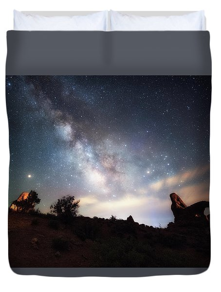 Duvet Cover featuring the photograph Dreamy by Russell Pugh