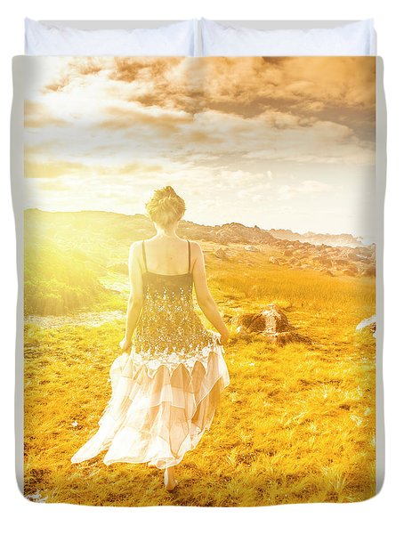 Dreamy Summer Fields Duvet Cover
