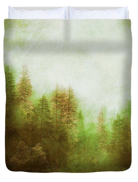 Duvet Cover featuring the digital art Dreamy Summer Forest by Klara Acel