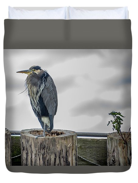 Duvet Cover featuring the photograph Dreay Day At The Ocean by Jerry Cahill