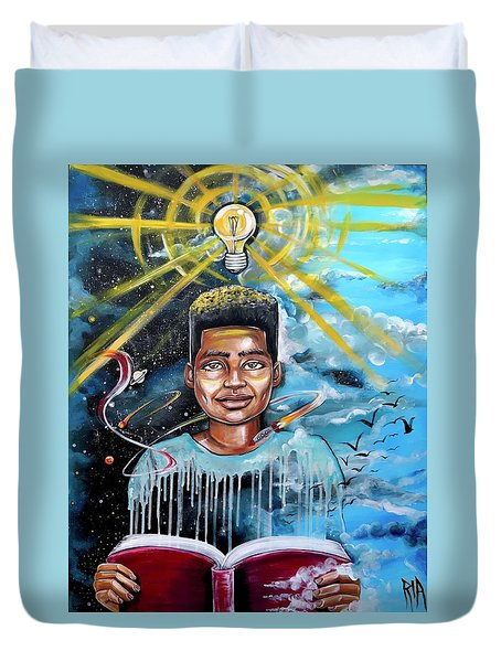 Drenched In Knowledge Duvet Cover