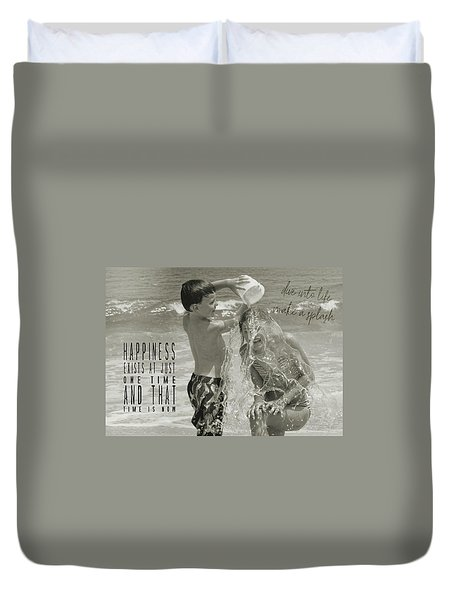 Drenched Quote Duvet Cover by JAMART Photography