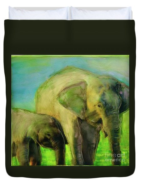 Dreaming Of Elephants Duvet Cover