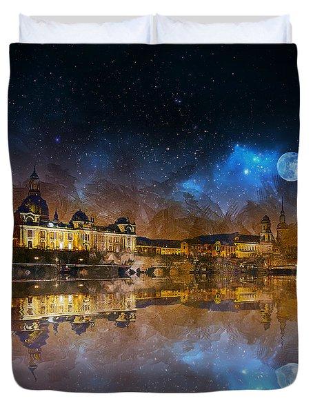 Dresden At Night Duvet Cover