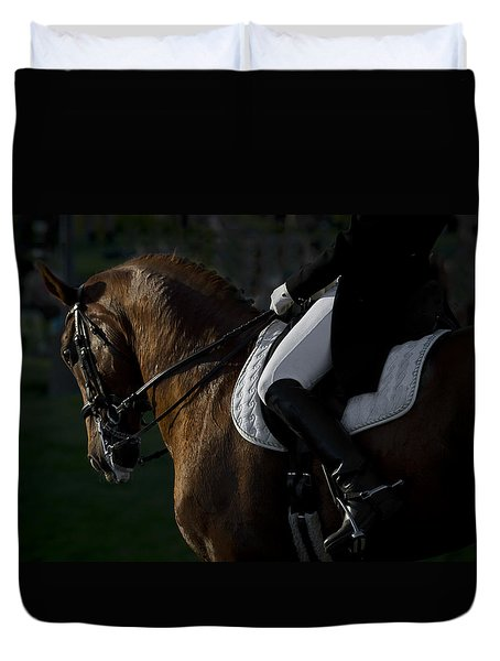 Duvet Cover featuring the photograph Dressage D5284 by Wes and Dotty Weber