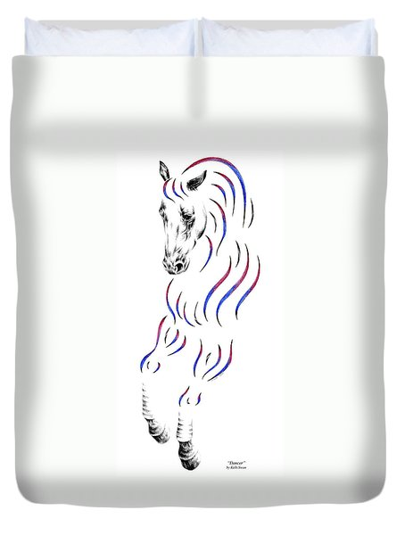 Dressage Horse Dancer Print Duvet Cover by Kelli Swan