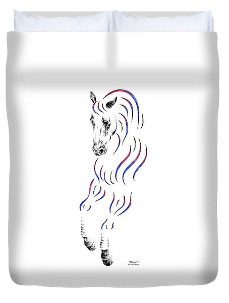 Dressage Horse Dancer Print Duvet Cover