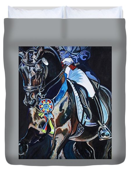 Dressage Stallion Duvet Cover